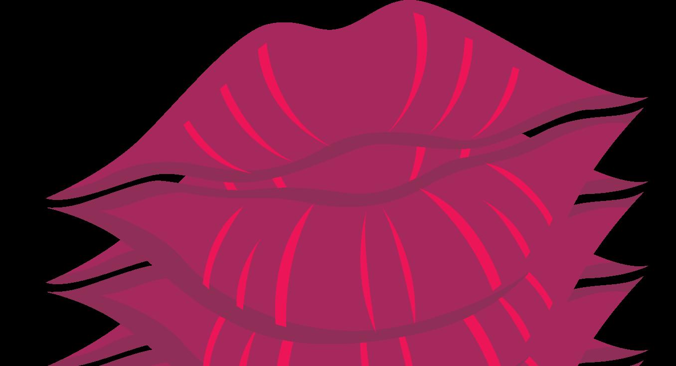Cartoon kissy group kiss. Lips clipart lipstick stain