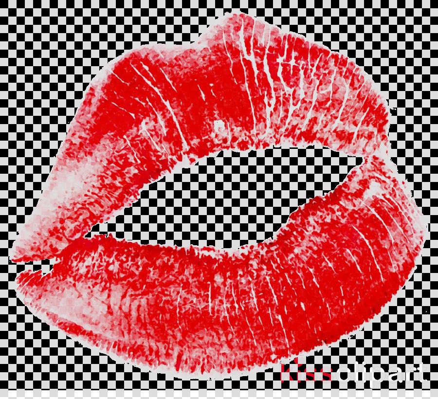 Lips cartoon lipstick red. Kiss clipart lip stain