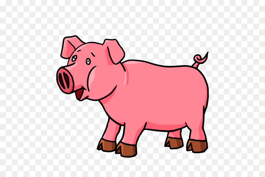 Cartoon drawing transparent . Kiss clipart pig