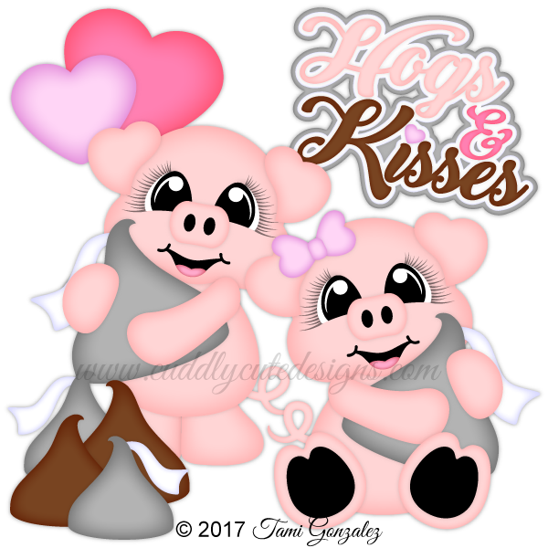 Kiss clipart pig. Hogs and kisses valentines