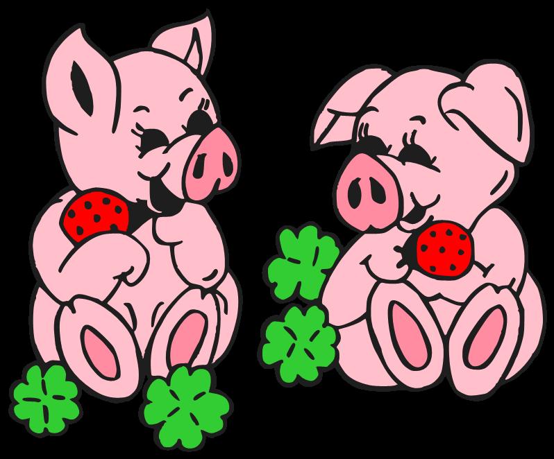 Domestic cartoon clip art. Kiss clipart pig