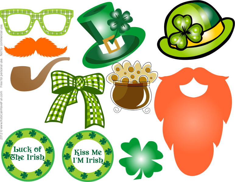 St patrick s day. Kiss clipart props