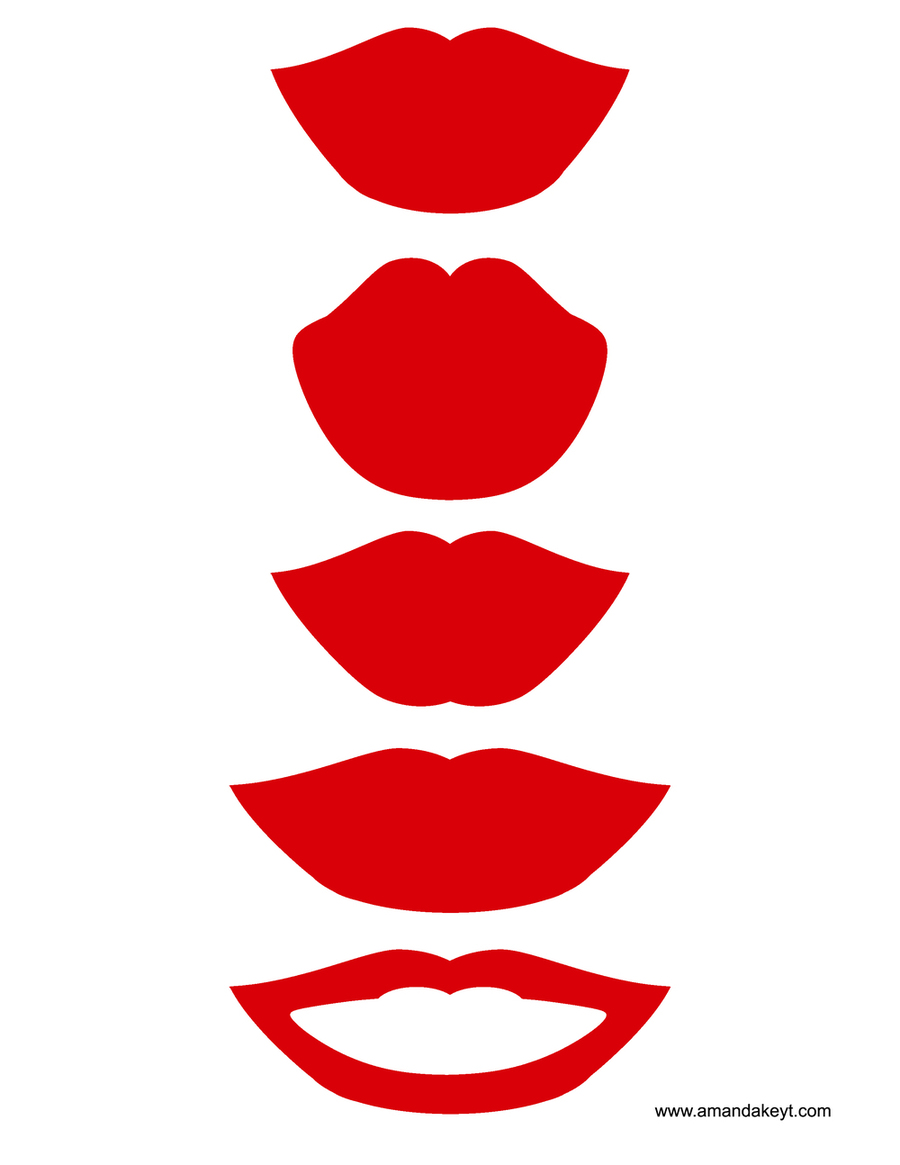 Download printable photo booth. Kiss clipart props