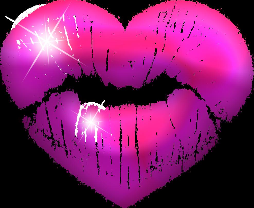 Kiss purple. Clipart transparent free for