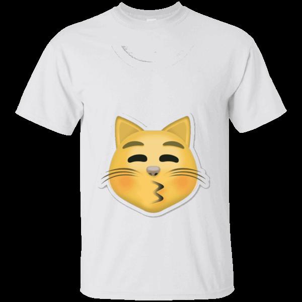Cat kissy face emoji. Pajamas clipart tshirt
