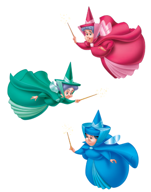 Kiss clipart sleeping beauty. Flora fauna and merryweather