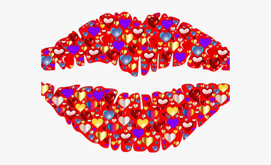 Kisses red lips wallpaper. Kiss clipart sparkle