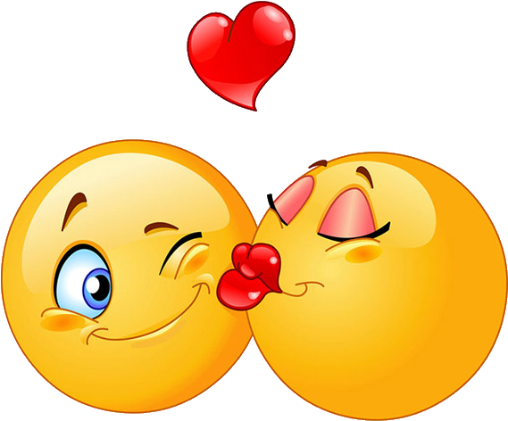Kiss clipart sweet. Png free library emoticon