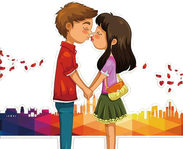 Cartoon clip art kissing. Kiss clipart woman kiss