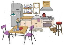 Kitchen clipart. Clip art and sayings