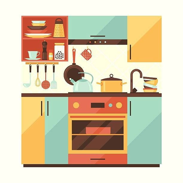 Furniture walpaper intended for. Clipart kitchen