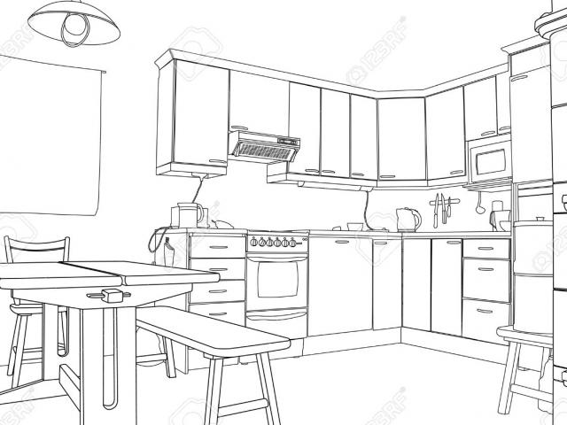 Free download clip art. Kitchen clipart black and white