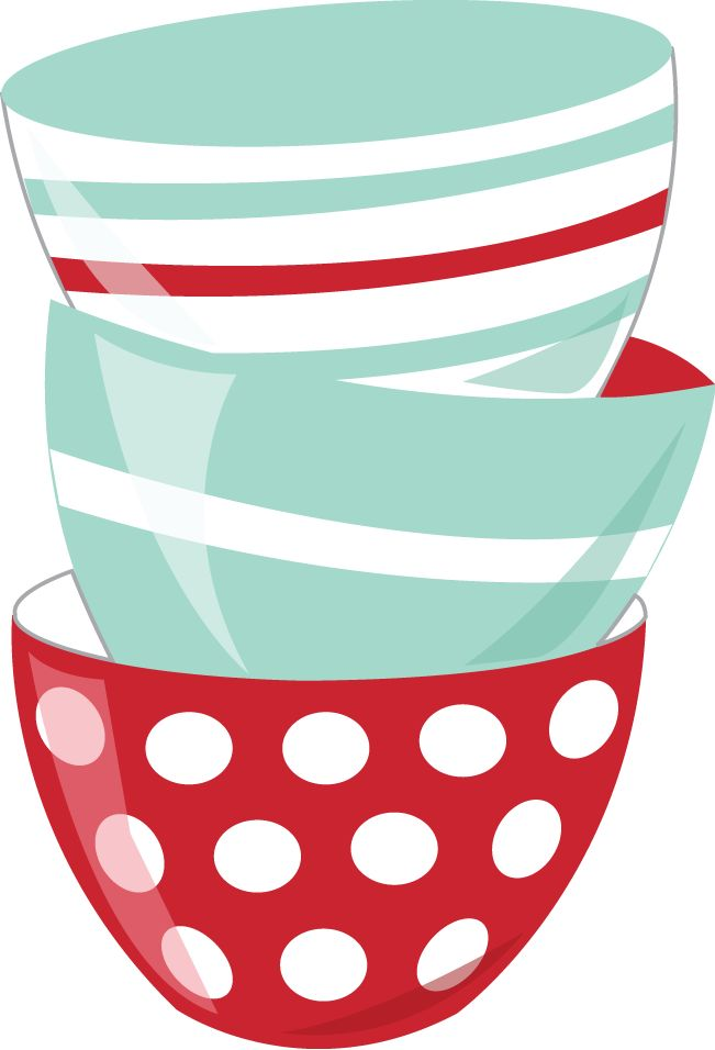 Red for clip art. Kitchen clipart bowl