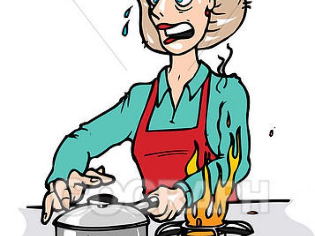 Kitchen clipart burns. Free download clip art