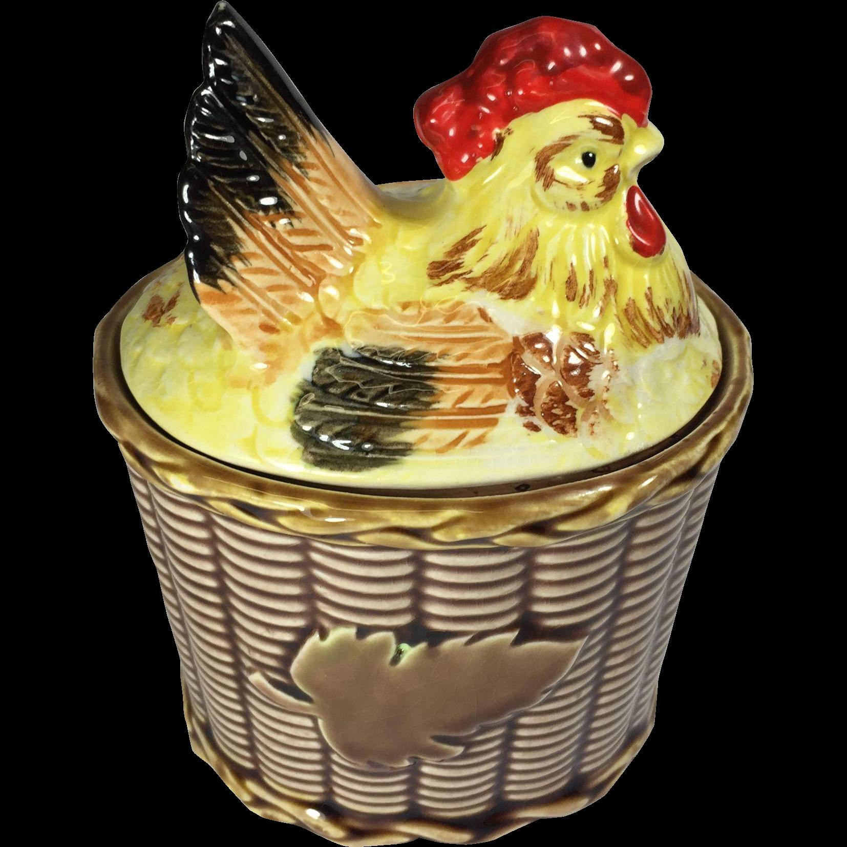 Vintage rooster chicken hen. Kitchen clipart condiment