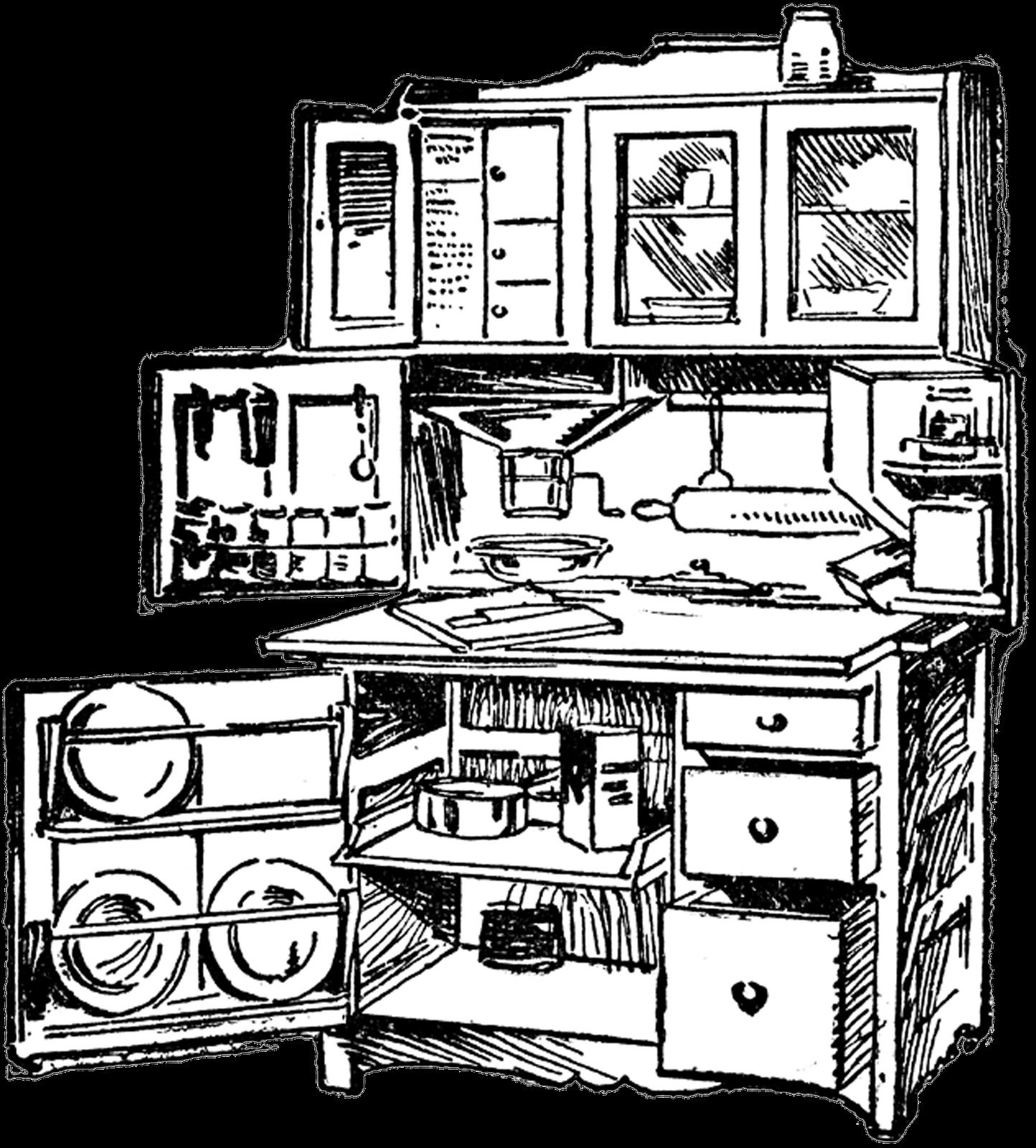 kitchen clipart kitchen cabinet
