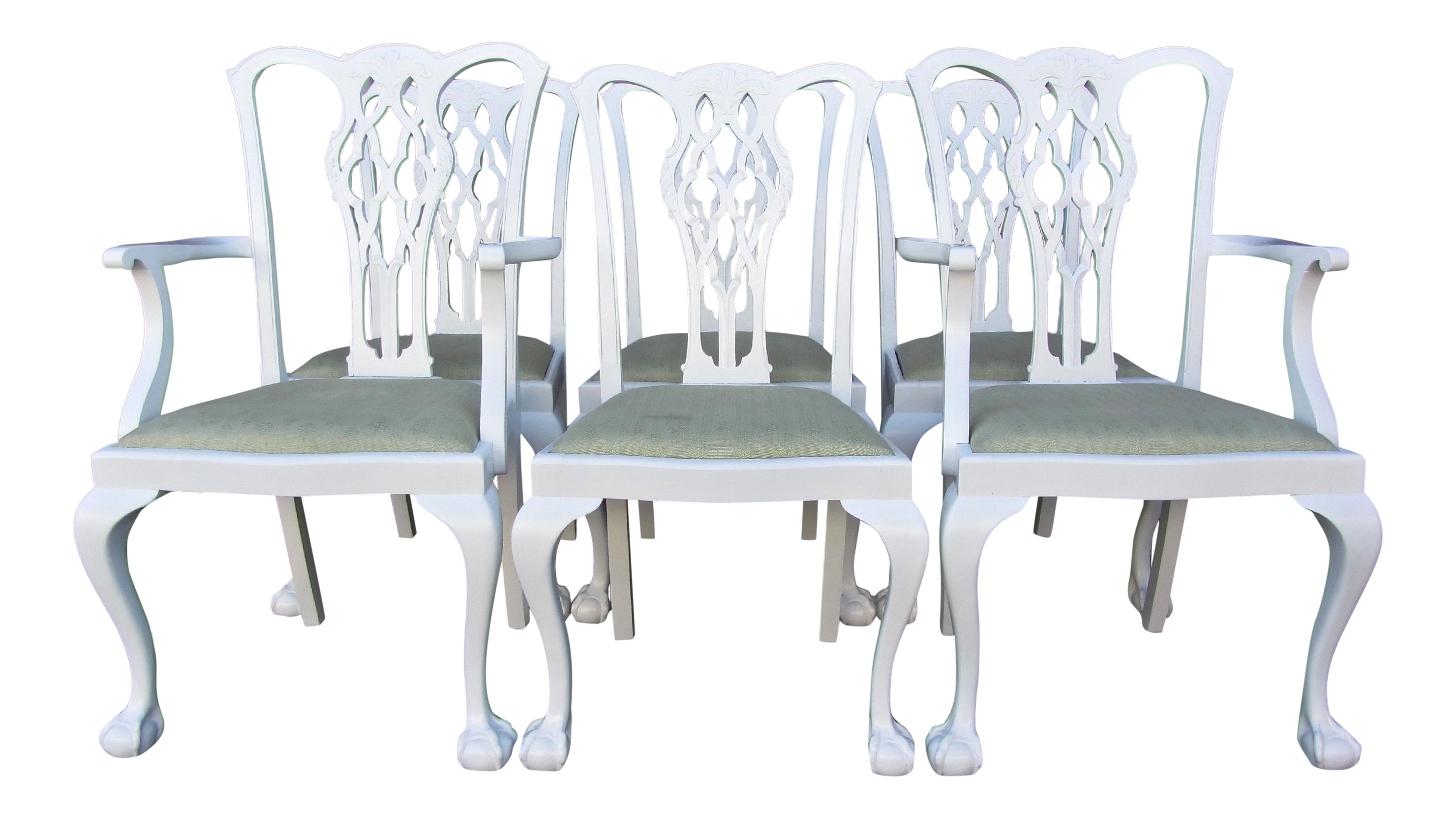 Antique white lacquer chairs. Kitchen clipart kitchen dining room