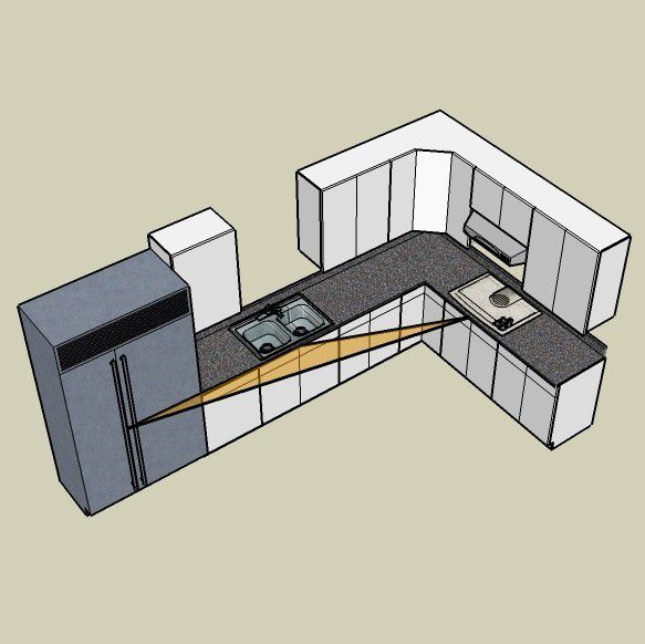 The l shaped or. Kitchen clipart kitchen layout