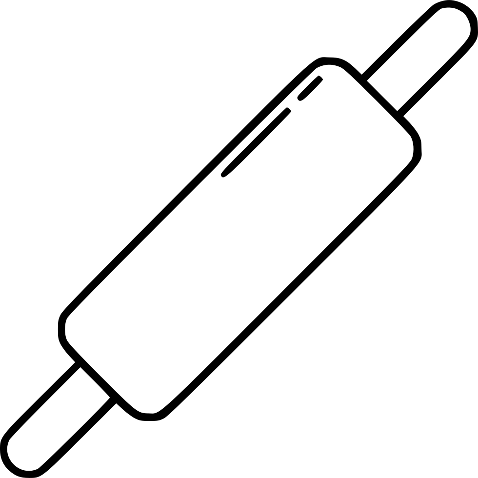 Svg png icon free. Kitchen clipart rolling pin