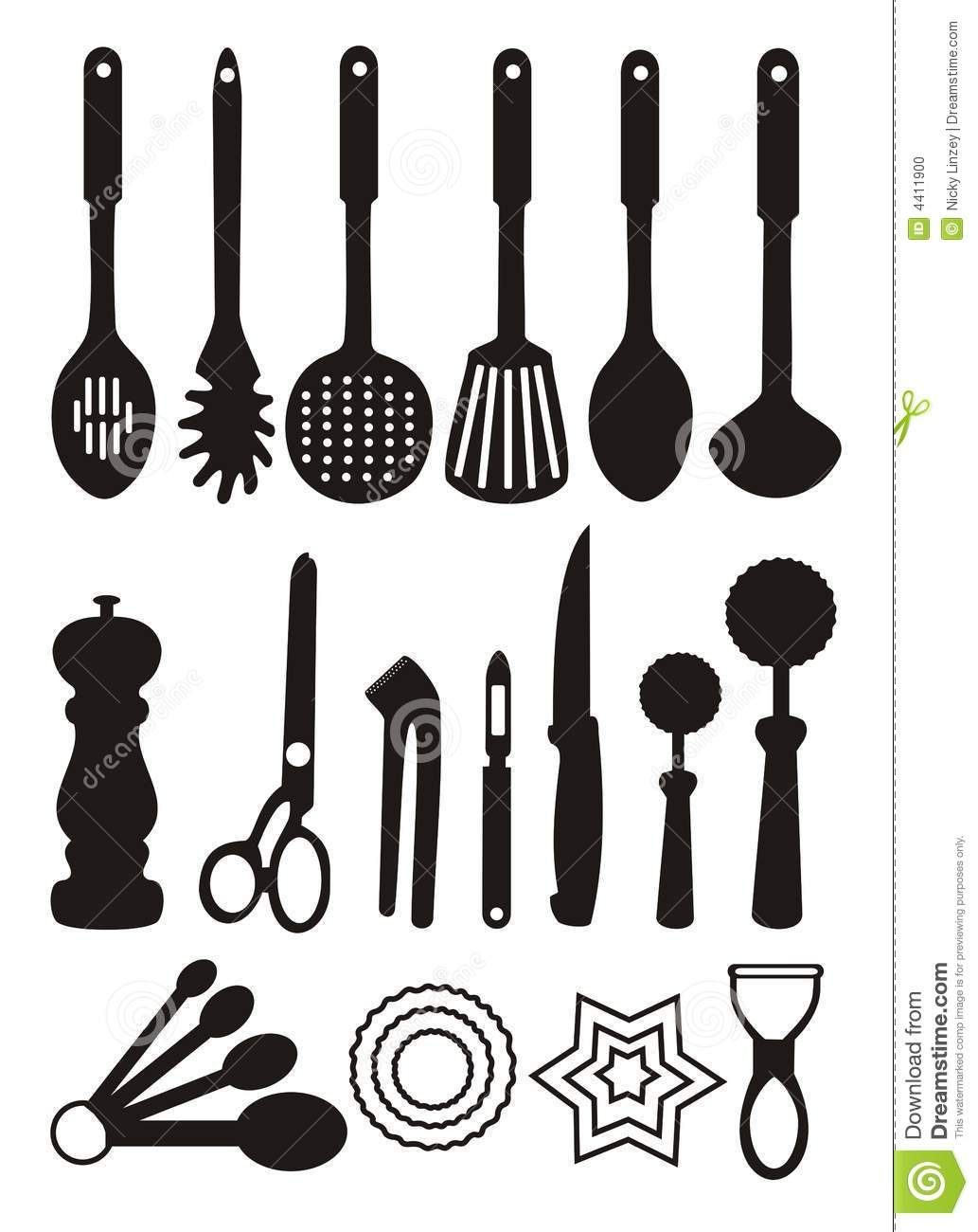 Tools clip art free. Kitchen clipart utensils