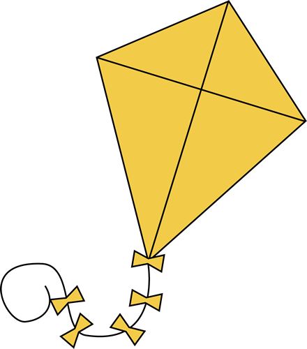 Clipart kite. Clip art images yellow