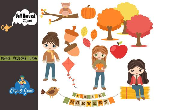 Fall harvest party flying. Kite clipart autumn