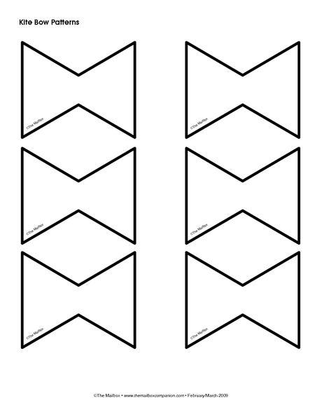 Pattern for spring bulletin. Kite clipart bow