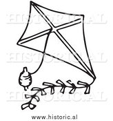 Royalty free stock historical. Kite clipart classic
