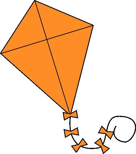 Line clip art triangle. Kite clipart orange