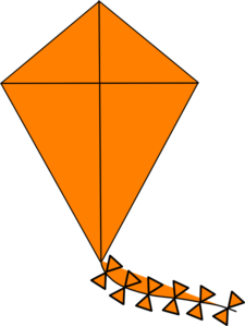 Clip art at clker. Kite clipart orange