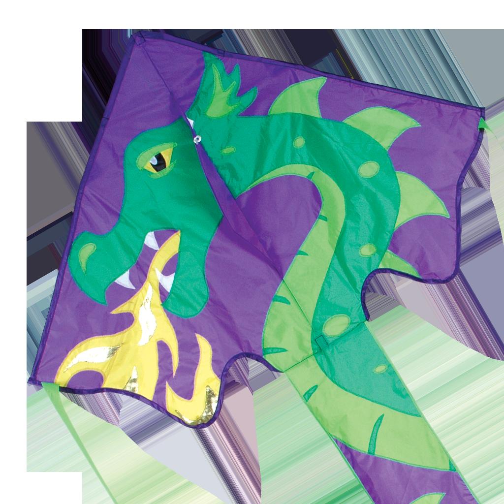 Kite clipart purple. Large easy flyer skylar