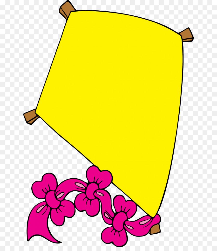 Flower leaf transparent clip. Kite clipart yellow