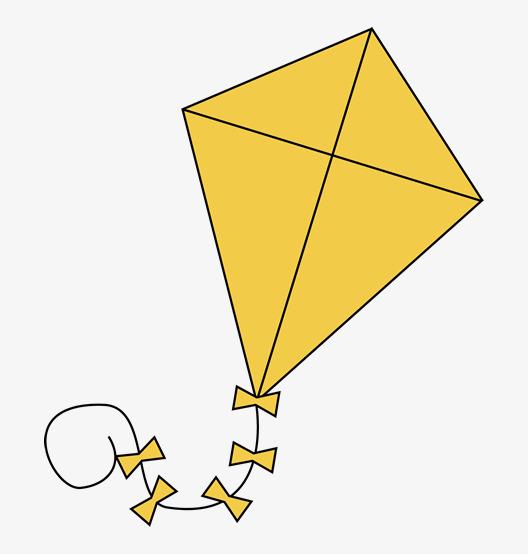 Kite clipart yellow.