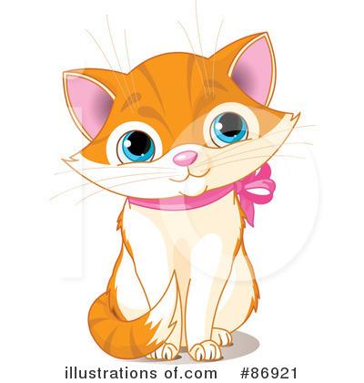 Kitten clipart. Illustration by pushkin royaltyfree