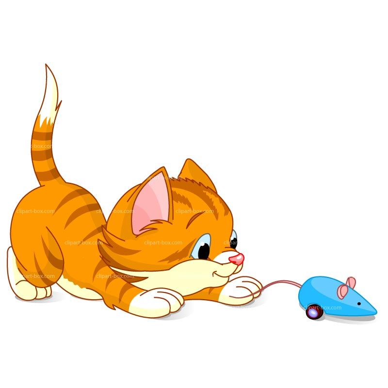 1 clipart kitten. Playing with mouse royalty