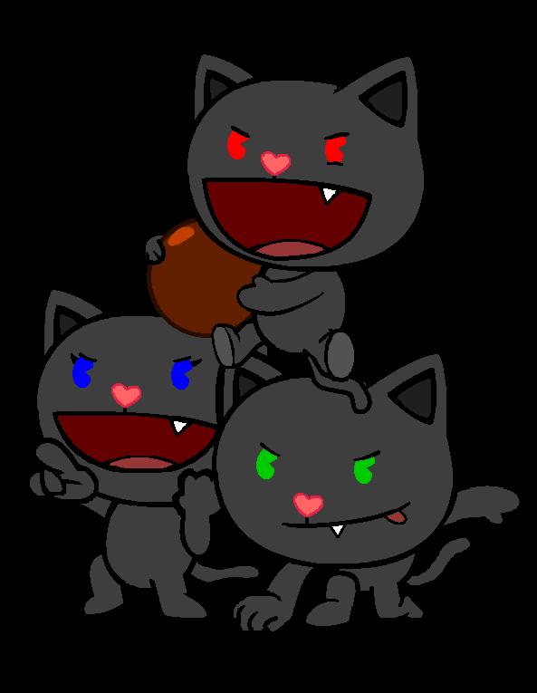 Dark happy tree friends. Kittens clipart gray cat