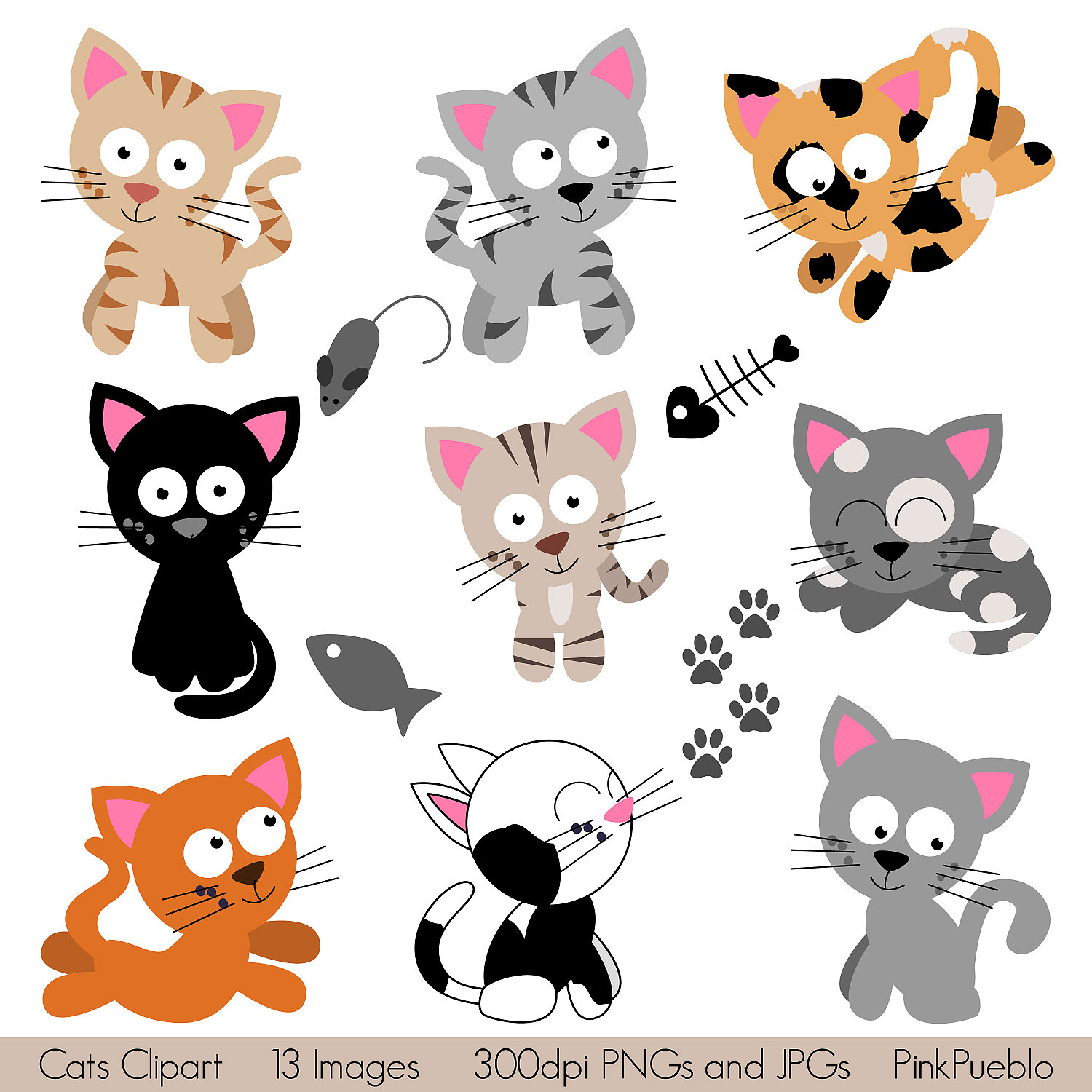 Kittens clipart 6 cat. Free cliparts download clip
