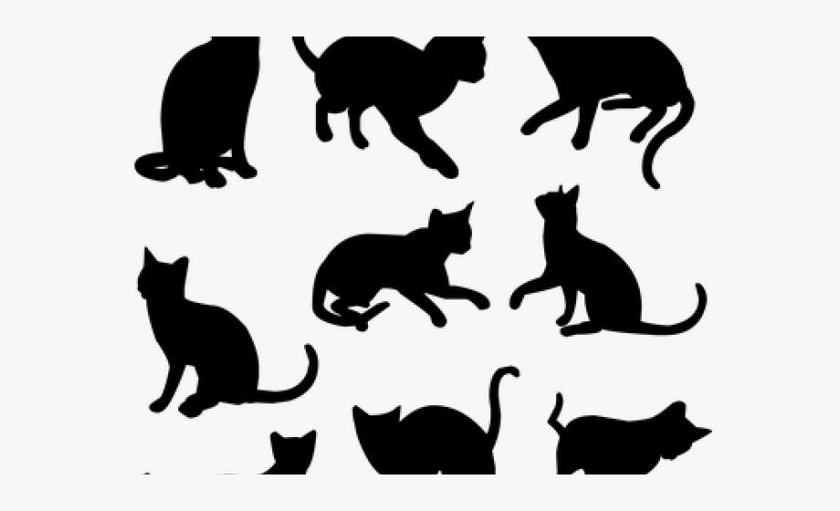 Kittens cats silhouette png. Kitten clipart 9 cat
