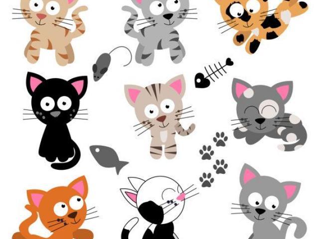 Kitten clipart 9 cat. Free download clip art
