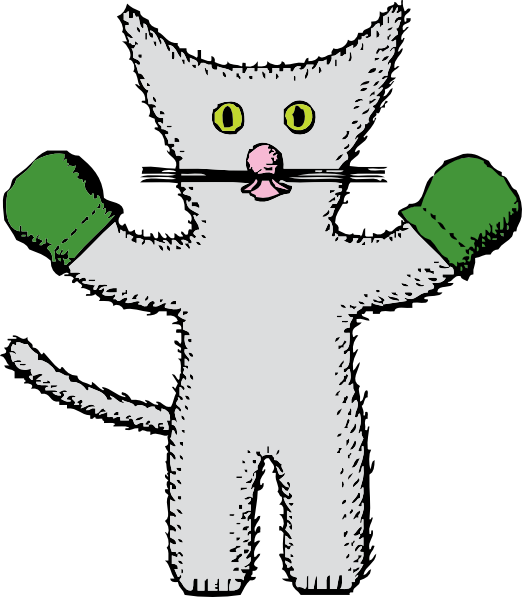 Kitten with clip art. Mittens clipart large