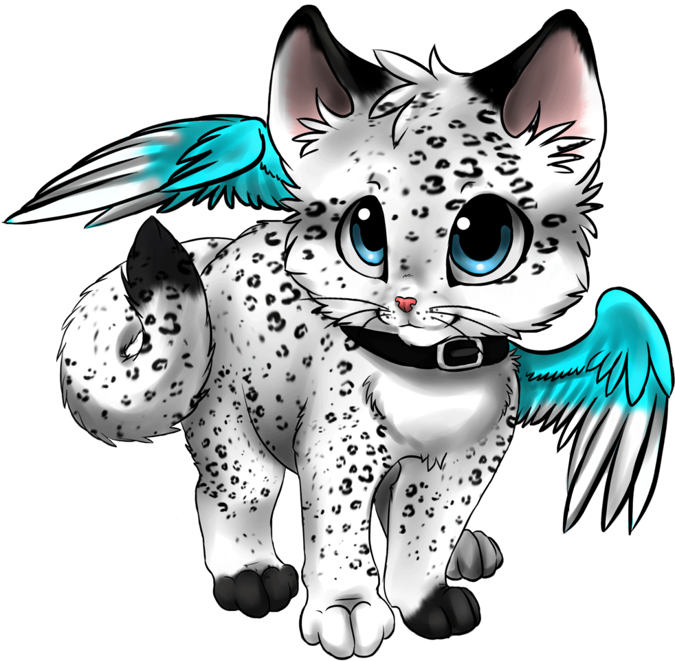 Anime Cat With Wings kitten clipart anime cat, kitten anime cat transparent free