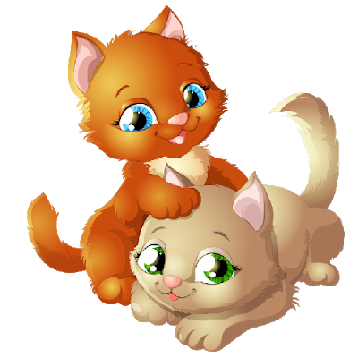 Cute cartoon kittens images. Kitten clipart baby kitten