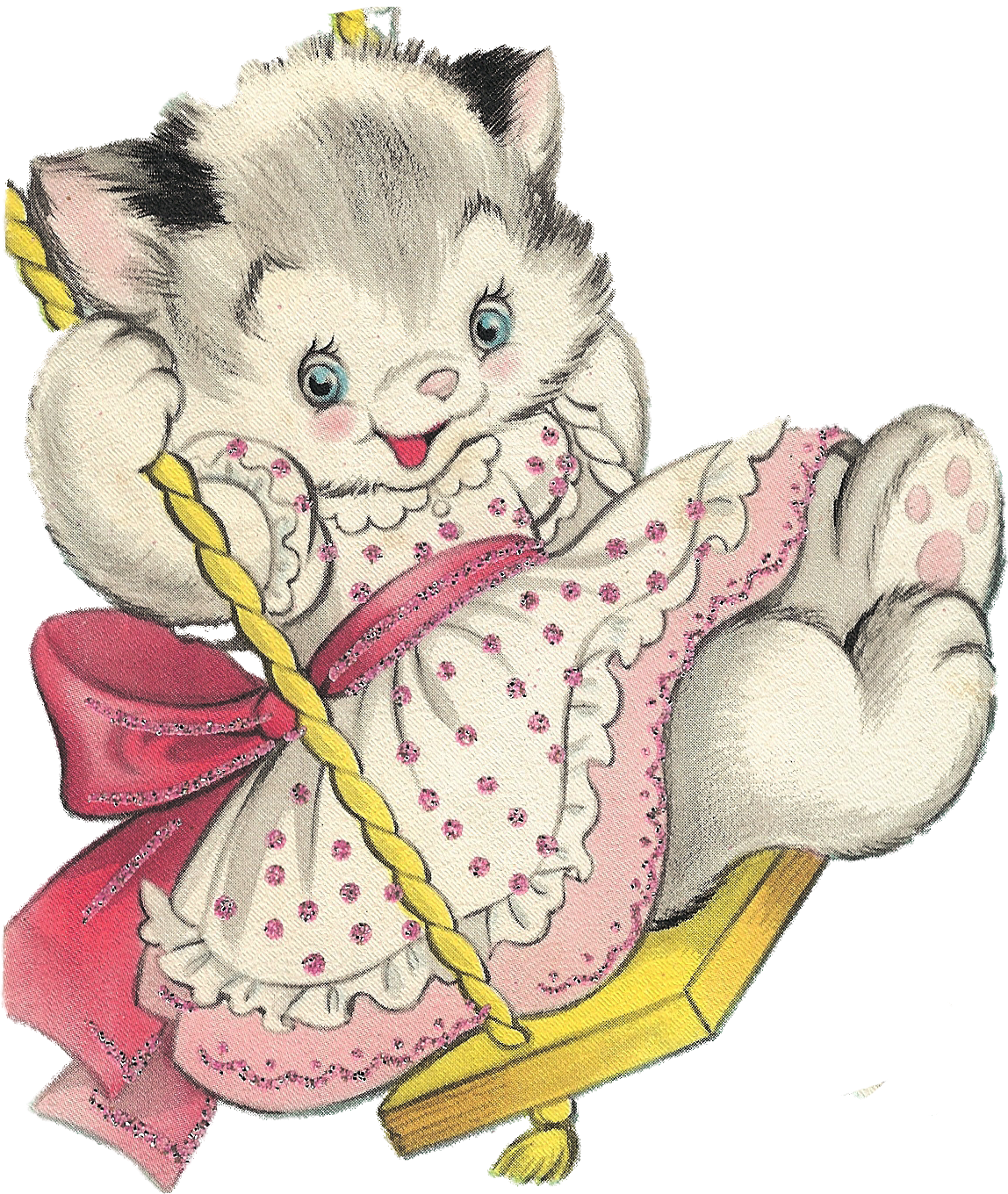Kitten Clipart Basket Painting Kitten Basket Painting