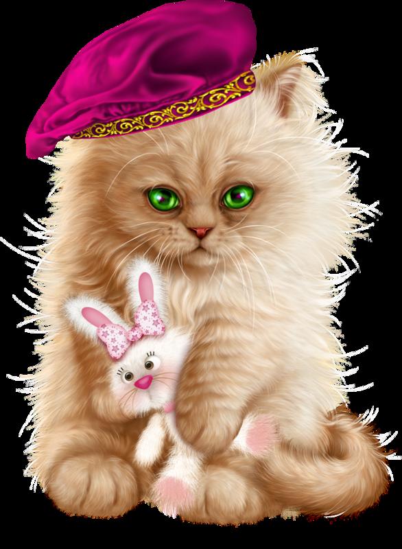 Kittens cats cat gato. Kitten clipart basket painting