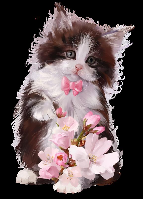 Kitten clipart basket painting. Cabschau clip art pinterest