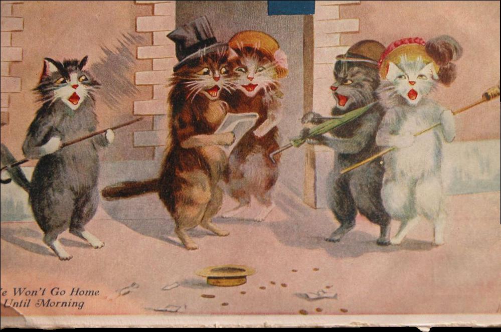 Download kittens giclee . Kitten clipart basket painting