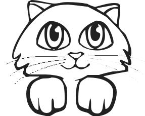 Kittens clipart black and white. Kitten clip art panda