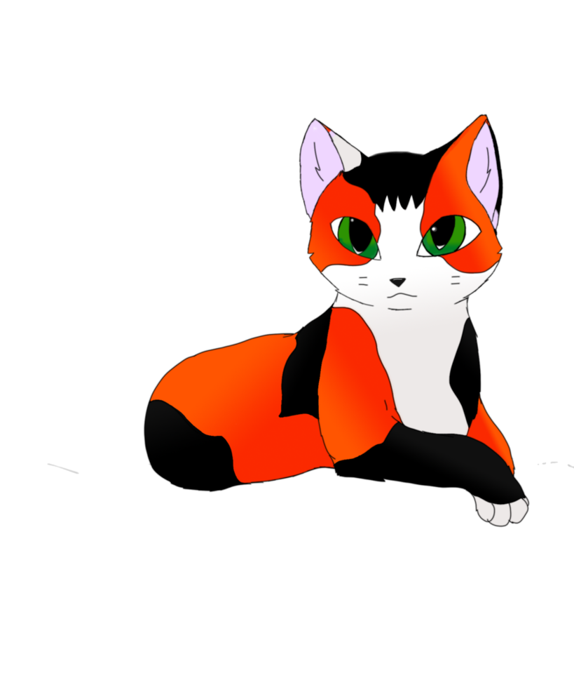Cat by melodic on. Kittens clipart calico