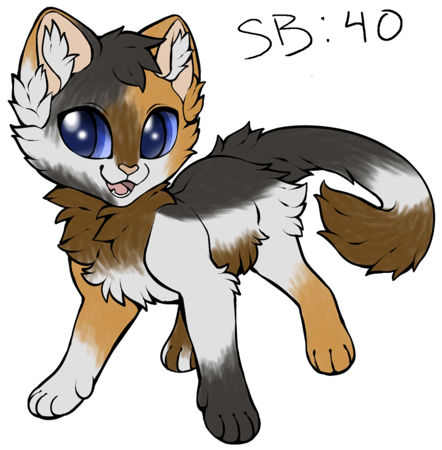 Kittens clipart calico. Cat adopt auction open
