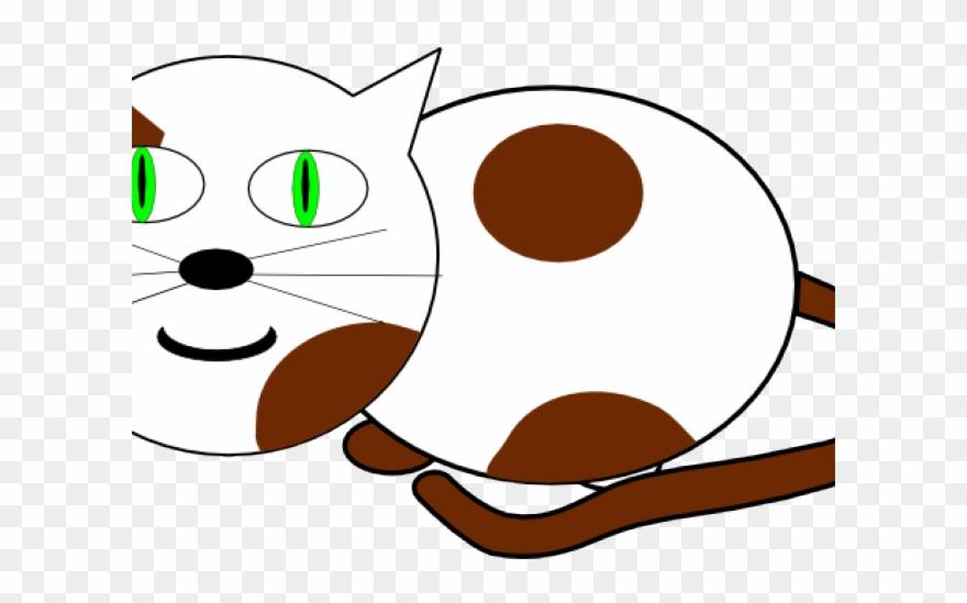 Kitten clipart cat sat. Custom brown and white